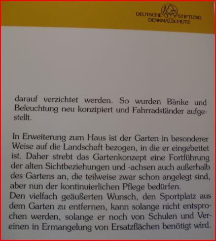 Aus der Dauersausstellung der Deutschen Stiftung Denkmalschutz im Prinzenhaus