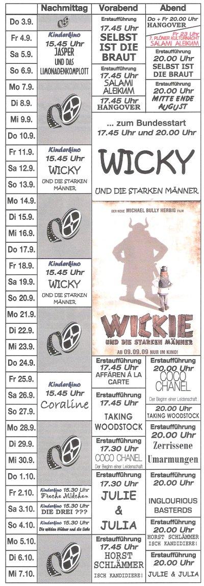 Kinoprogramm September