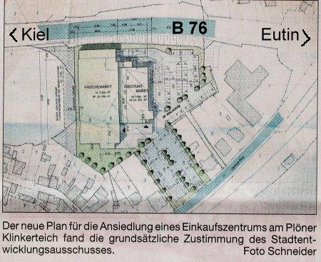Lageplan Supermarktkomplex ALDI/SKY