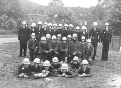 Internatsfeuerwehr vor dem Prinzenhaus 1976