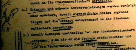 Das schreibt der Generalstaatsanwalt am 19. November 1938 seinem Oberstaatsanwalt