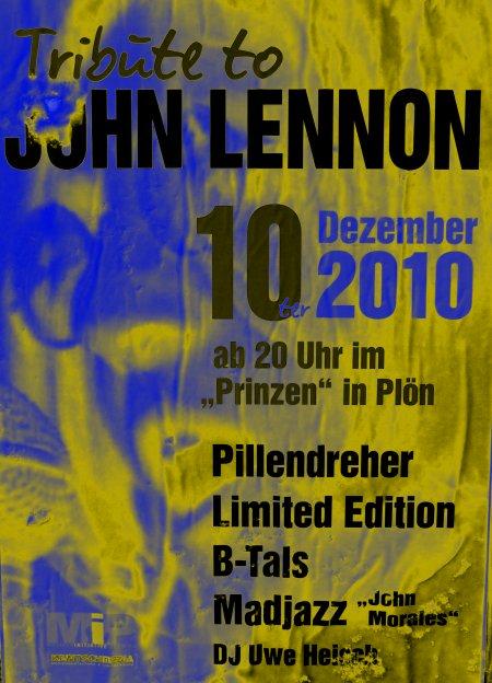 John Lennon Tribute. Termin: 10. Dezember um 20:00 im Prinzen