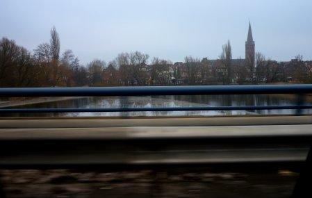Blick von der B 76, aus Richtung Kiel kommend