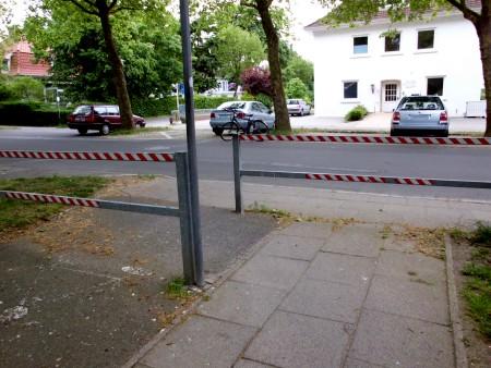 Radweg, Einmündung an der Eutiner Straße