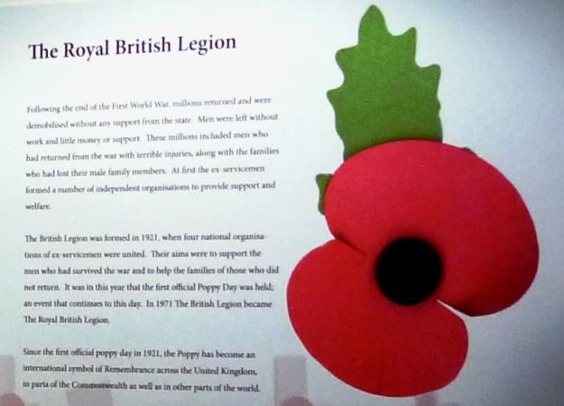 Poppy. Ausdruck des Gedenkens an die Kriegsopfer in England