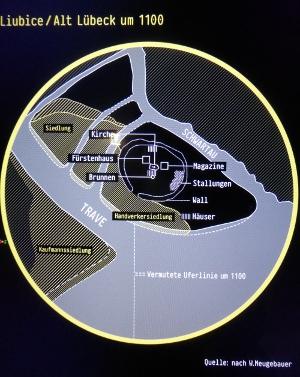 Die Präsentation von Informationen erfolgt zum Teil auf gedruckten Tafeln oder auf großen Flachbildschirmen wie hier.